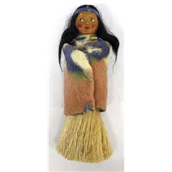 Unusual Vintage Looking Right Skookum Brush Doll
