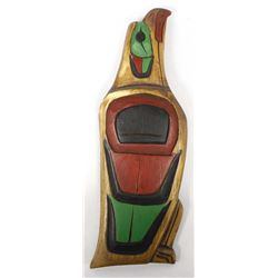 Northwest Coast Carved Wood Plaque, R Shaughnessy
