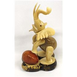 Asian Carved Tagua Nut Elephant