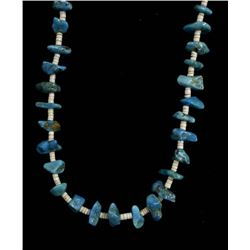 Navajo Turquoise Nugget and Shell Heishi Necklace