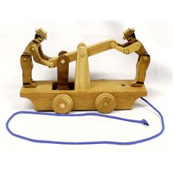 Railroad Handcar Wood Pull Toy by Jerry Podwil