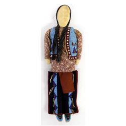 Native American Sioux Beaded Cloth Doll
