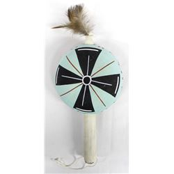 Native American Hopi Hand Painted Gourd Rattle