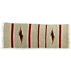 New Mexican Chimayo Fringed Wool Textile