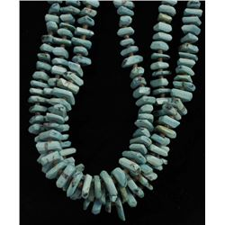 Navajo Sterling Turquoise & Heishi Shell Necklace