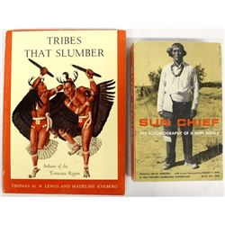 2 Softback books about Native Americans