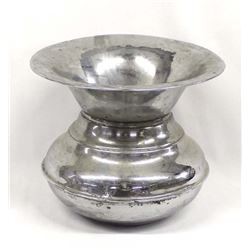 Vintage Nickel Washed Weighted Farberware Spittoon