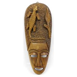Indonesian Carved Wood Mask