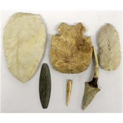 Native American Stone and Bone Tools