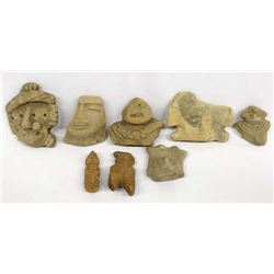 Collection of PreColumbian Pottery Throws