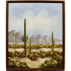 Original Arizona Saguaro Painting by Cole