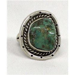 Native American Navajo Sterling Turquoise Ring