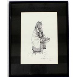 Original 1996 Pen and Ink Drawing by Michaelis Bur