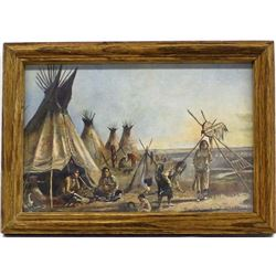 Framed Charles M. Russell Print