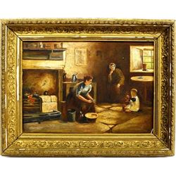 Antique Oil Painting by M. Aldous