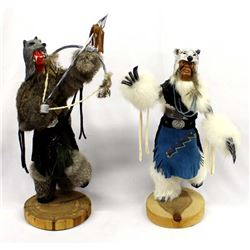 2 Native American Kachina Dolls