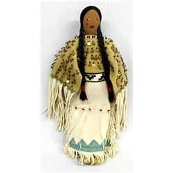 Native American Lakota Sioux Beaded Doll