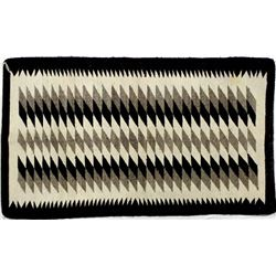 Native American Navajo Wool Textile Rug by Secody