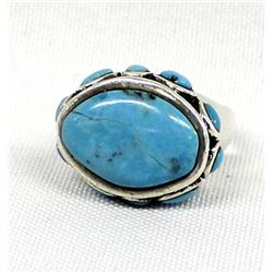 Barse Sterling Silver Turquoise Ring, Size 7