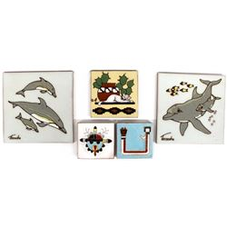 5 Assorted Ceramic Tiles