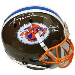 Henry Winkler Signed The Waterboy Mud Dogs Brown Schutt Full Size Replica Helmet w/Coach Klein