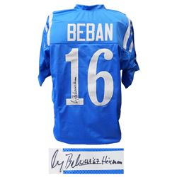 Gary Beban Signed Blue Throwback Custom College Jersey w/Heisman'67