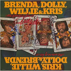 Willie Nelson Kris Kristofferson Dolly Parton Brenda Lee Signed …The Winning Hand Album