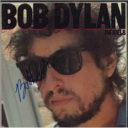 Bob Dylan Signed Infidels Album