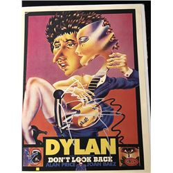 Bob Dylan signed Don't Look Back Poster