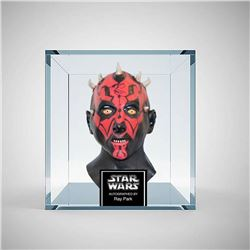 Darth Maul Signed and Framed Mask