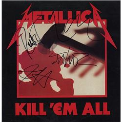 Metallica Band Signed Kill 'Em All Album