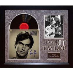 James Taylor Autographed Album Framed
