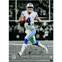 Dak Prescott Signed Dallas Cowboys Action Spotlight 16x20 Photo