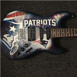New England Patriots Airbrushed Electric Guitar