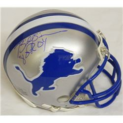 Billy Sims Signed Detroit Lions Throwback Riddell Mini Helmet w/80 ROY