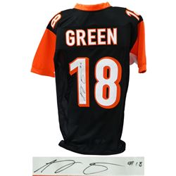 A.J. (AJ) Green Signed Black Custom Football Jersey - JSA