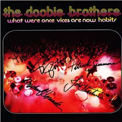 The Doobie Brothers Band Signed What Were Once Vices Are Now Habits Album
