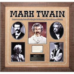 Mark Twain Autographed Collage
