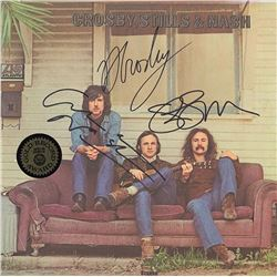 Crosby Stills and Nash Band Signed Crosby Stills And Nash Self Titled Album