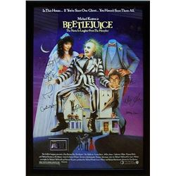 Beetlejuice - Signed and Framed Movie Poster