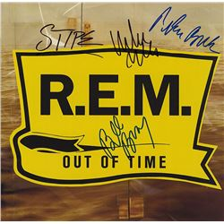 "REM Signed ""Out Of Time"" Album"