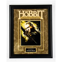 Hobbit - Signed by Orlando Bloom - Framed Artist Series