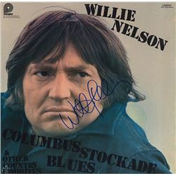 Willie Nelson Signed Columbus Stockade Blues Album