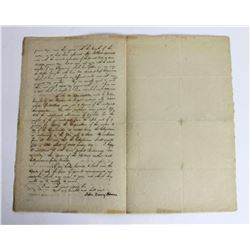 John Quincy Adams Signed Document