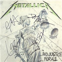 """Metallica """"Jump In The Fire"""" Metallica Band Signed … and Justice For All Album"""