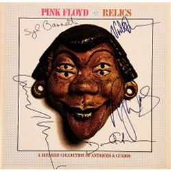 Pink Floyd Signed Relics Rare Cover w/ Syd