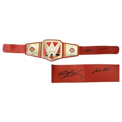 Bill Goldberg Signed WWE Universal Champion Red Replica Wrestling Belt w/Who's Next