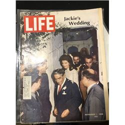 Life magazine signed by Jackie Kennedy