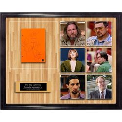 Big Lebowski - Signed Movie Script in Photo Collage Frame