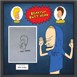 Mike Judge Signed & Drawn Beavis and Butt-Head Illustration